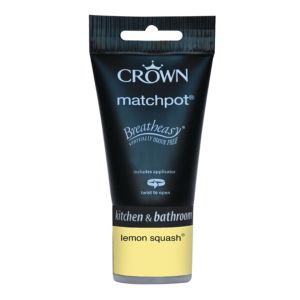 View Crown Breatheasy® Lemon Squash Mid Sheen Emulsion Paint 40ml Tester Pot details