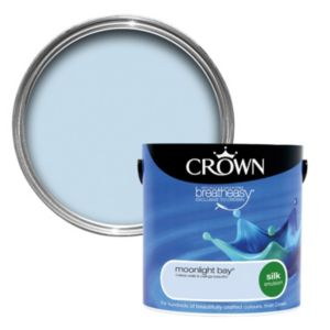 View Crown Breatheasy® Moonlight Bay Silk Emulsion Paint 2.5L details