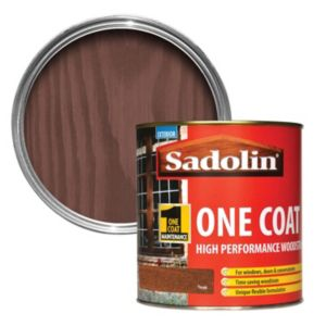 View Sadolin One Coat Teak Semi-Gloss Woodstain 1L details
