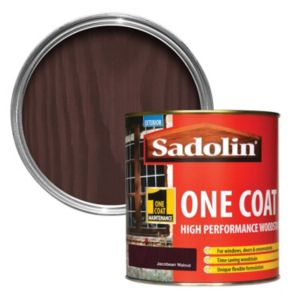 View Sadolin One Coat High Performance Jacobean Walnut Woodstain 1L details