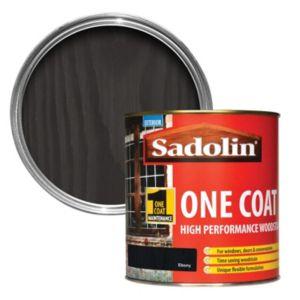 Image of Sadolin Ebony Semi-gloss Woodstain 1L