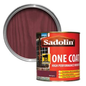 View Sadolin One Coat Mahogany Semi-Gloss Woodstain 1L details