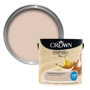 View Crown Breatheasy® Toasted Almond Matt Emulsion Paint 2.5L details