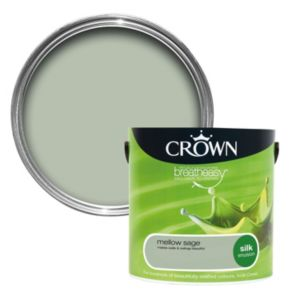 View Crown Breatheasy® Mellow Sage Silk Emulsion Paint 2.5L details