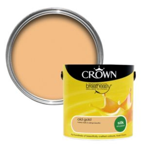 View Crown Breatheasy® Old Gold Silk Emulsion Paint 2.5L details