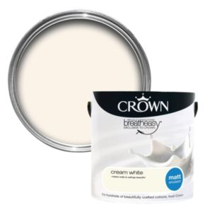 View Crown Breatheasy® Cream White Matt Emulsion Paint 2.5L details