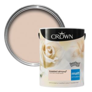 View Crown Breatheasy® Toasted Almond Matt Emulsion Paint 5L details