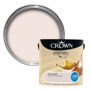 View Crown Breatheasy® Snowfall Matt Emulsion Paint 2.5L details