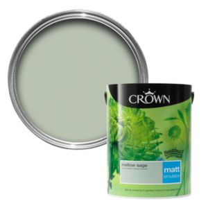 View Crown Breatheasy® Mellow Sage Matt Emulsion Paint 5L details
