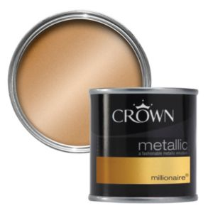 View Crown Fashion For Walls® Millionaire Emulsion Paint 125ml Tester Pot details
