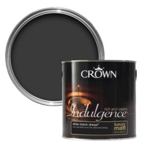 View Crown Indulgence Black Dress Matt Emulsion Paint 2.5L details