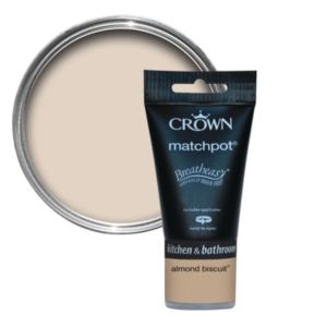 View Crown Breatheasy® Almond Biscuit Matt Emulsion Paint 40ml Tester Pot details