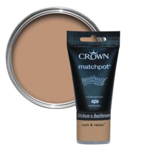 View Crown Breatheasy® Rum & Raisin Matt Emulsion Paint 40ml Tester Pot details