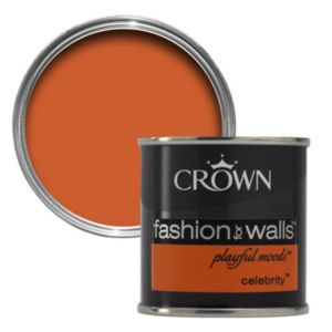 View Crown Fashion For Walls® Celebrity Flat Matt Emulsion Paint 125ml Tester Pot details