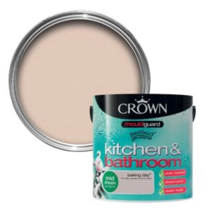 View Crown Kitchen & Bathroom Mouldguard® Baking Day Mid Sheen Emulsion Paint 2.5L details