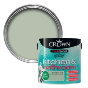 View Crown Kitchen & Bathroom Mouldguard® Bamboo Leaf Mid Sheen Emulsion Paint 2.5L details