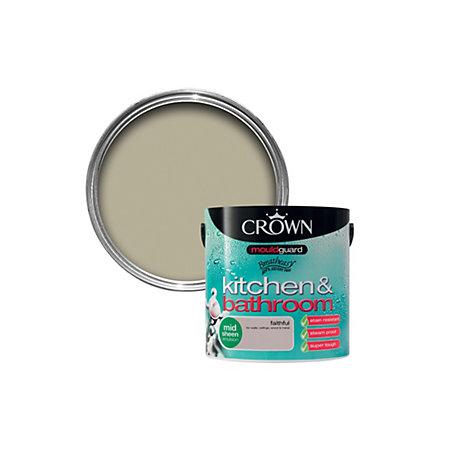 crown kitchen bathroom faithful mid sheen emulsion paint 2 5l
