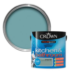 View Crown Kitchen & Bathroom Mouldguard® Dragonfly Matt Emulsion Paint 2.5L details