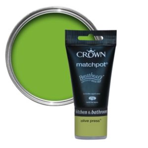 View Crown Breatheasy� Olive Press Matt Emulsion Paint 40ml Tester Pot details