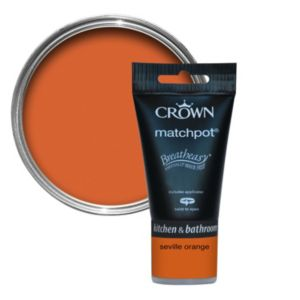 View Crown Breatheasy® Seville Orange Matt Emulsion Paint 40ml Tester Pot details