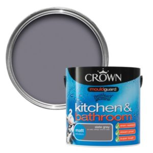View Crown Kitchen & Bathroom Mouldguard® Slate Grey Matt Emulsion Paint 2.5L details
