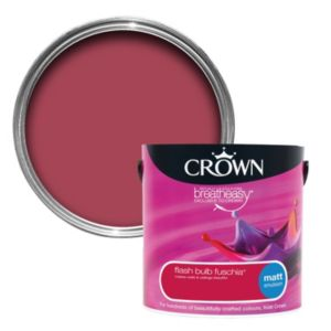 View Crown Breatheasy® Flash Bulb Fuchsia Matt Emulsion Paint 2.5L details