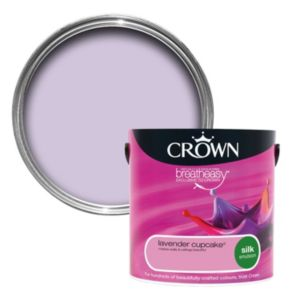 View Crown Breatheasy® Lavender Cupcake Silk Emulsion Paint 2.5L details