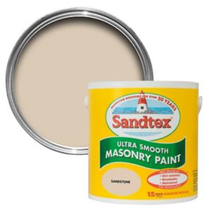 View Sandtex Sandstone Beige Smooth Masonry Paint 2.5L details
