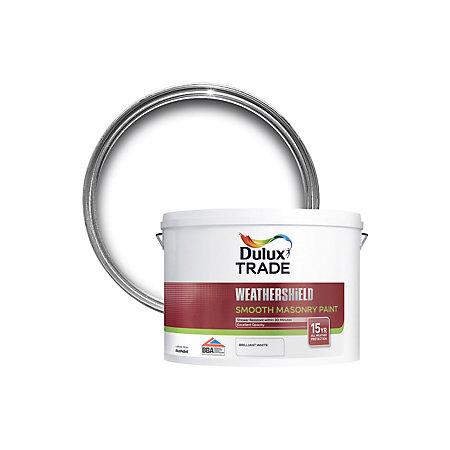 Dulux Trade Weathershield Smooth Masonry Paint Pure Brilliant White