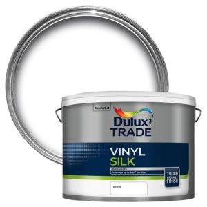 View Dulux Trade White Vinyl Silk Emulsion Paint 10L details
