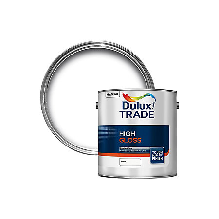 Dulux Trade Interior Exterior White High Gloss Wall Ceiling Paint 2 5l Departments Diy