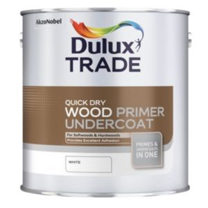 View Dulux Trade Quick Dry White Primer & Undercoat 2.5L details