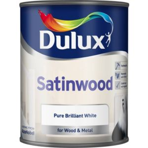 View Dulux Interior Pure Brilliant White Satinwood Paint 750ml details