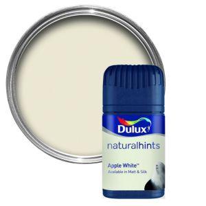 Dulux Apple White Matt Emulsion Paint 50ml Tester Pot