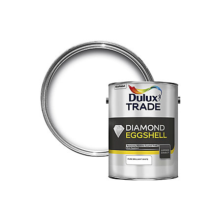 Dulux Trade Interior Pure Brilliant White Eggshell Wood Metal Paint 5000ml Departments Diy