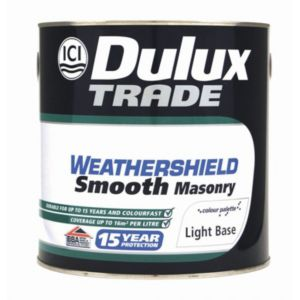 View Dulux Trade Weathershield White Smooth Masonry Paint 2.5L details