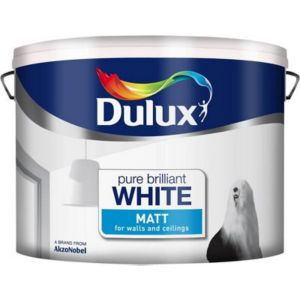 View Dulux Pure Brilliant White Matt Emulsion Paint 10L details