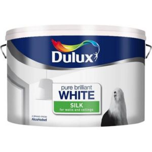 View Dulux Pure Brilliant White Silk Emulsion Paint 10L details