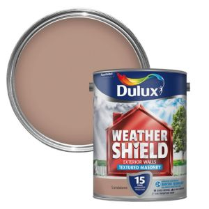 View Dulux Weathershield Sandstone Textured Textured Masonry Paint 5L Can details