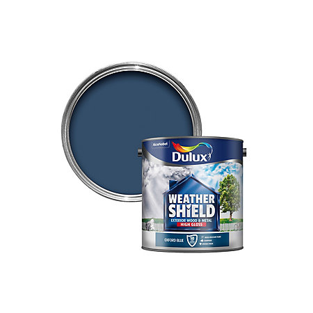 Dulux weathershield oxford blue gloss wood metal paint 2 - Weathershield exterior paint system ...