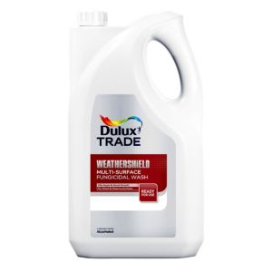View Dulux Trade Weathershield Clear Multi Surface Fungicidal Wash 5L Plastic Container details
