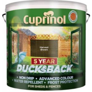 View Cuprinol Ducksback Harvest Brown Shed & Fence Treatment 9L details