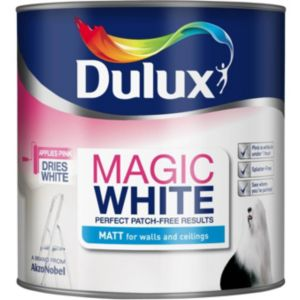 View Dulux Magic Pure Brilliant White Matt Emulsion Paint 2.5L details
