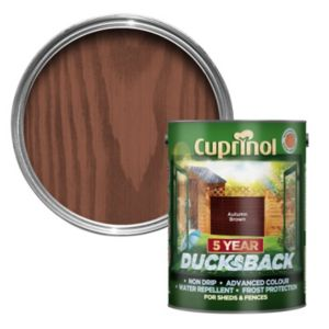Image of Cuprinol 5 Year Ducksback Autumn brown Shed & fence treatment 5L