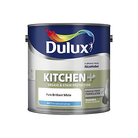 pure brilliant white matt emulsion paint 2 5l rooms diy at b q