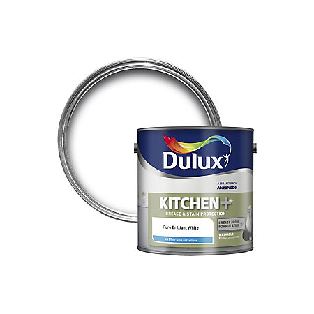 dulux kitchen pure brilliant white matt emulsion paint 2. Black Bedroom Furniture Sets. Home Design Ideas