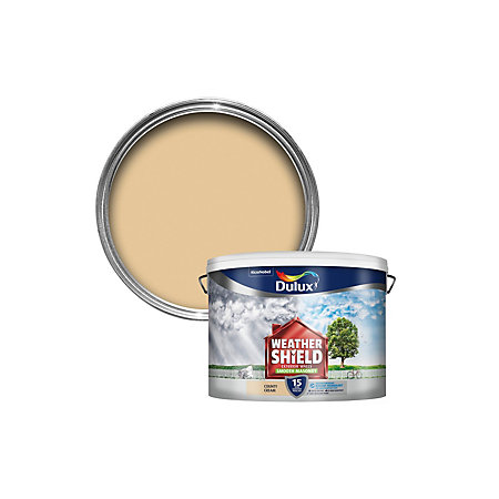Dulux weathershield county cream smooth masonry paint 10l - Weathershield exterior paint system ...