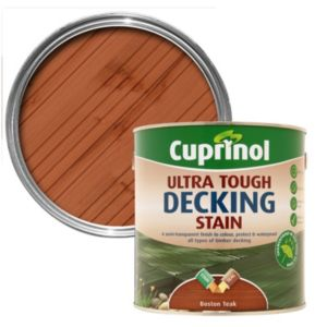 View Cuprinol Ultra Tough Boston Teak Matt Decking Stain 2.5L details