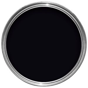 Image of Dulux Black Satinwood Wood & metal paint 0.75L
