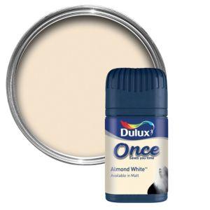 Dulux Almond White Matt Emulsion Paint 50ml Tester Pot